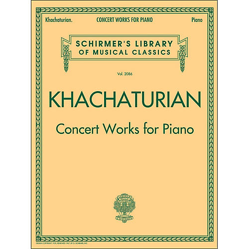 G. Schirmer Concert Works for Piano - Schirmer Library By Khachaturian