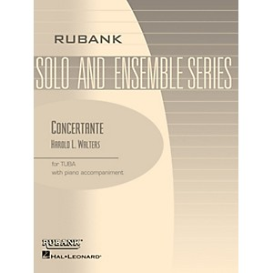 Rubank Publications Concertante Tuba Solo in C B.C. with Piano - Grade 4... by Rubank Publications