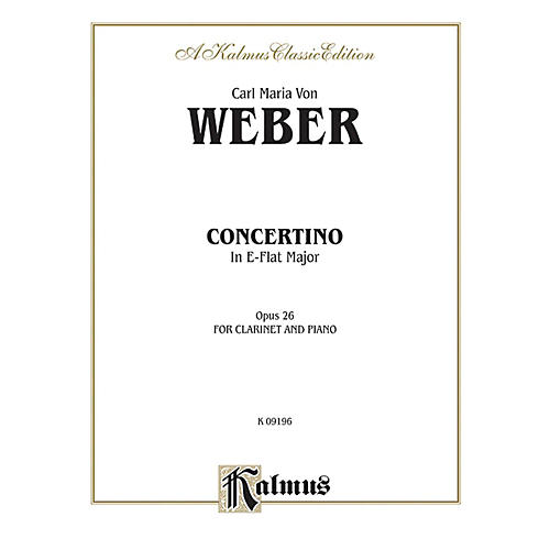 Alfred Concertino for Clarinet in A-Flat Major Op. 26 for Clarinet By Carl Maria von Weber Book-thumbnail