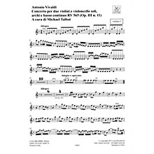 Ricordi Concerto D Minor, RV 565, Op. III, No. 11 String Orchestra Series Softcover Composed by Antonio Vivaldi