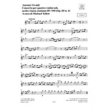 Ricordi Concerto E Minor, RV 550, Op. III, No. 4 String Orchestra Series Softcover Composed by Antonio Vivaldi