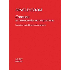 Schott Concerto Treble Recorder and String Orchestra piano reduction Scho...