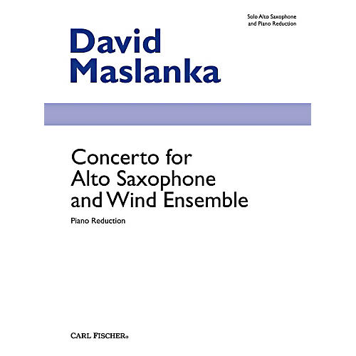 Carl Fischer Concerto for Alto Saxophone and Wind Ensemble (Book + Sheet Music)-thumbnail