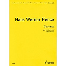 Schott Concerto for Double Bass and Orchestra (Score) Schott Series Composed by Hans Werner Henze