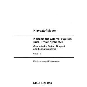 Sikorski Concerto for Guitar, Timpani and String Orchestra, Op. 115 Ensembl...