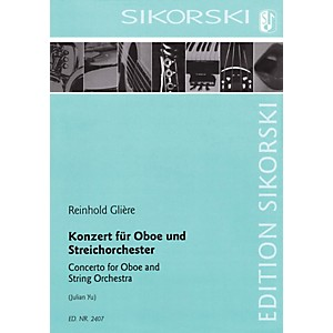 Sikorski Concerto for Oboe and String Orchestra Woodwind Solo by Reinhold G...