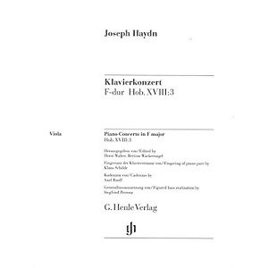 G. Henle Verlag Concerto for Piano Harpsichord and Orchestra F Major Hob.... by G. Henle Verlag