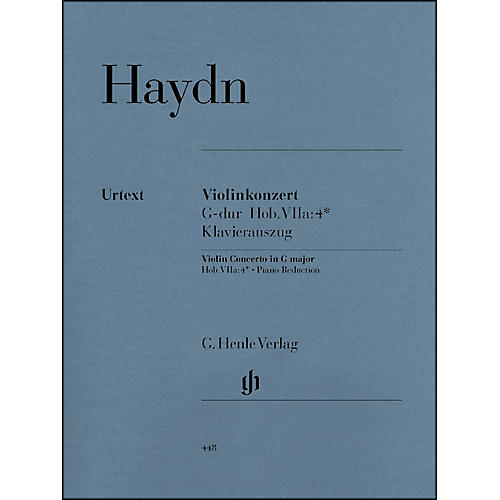 G. Henle Verlag Concerto for Violin And Orchestra in G Major Hob VIIa:4 By Haydn