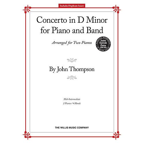 Willis Music Concerto in D Minor Willis Series by John Thompson (Level Mid-Inter)