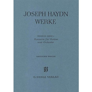 G. Henle Verlag Concertos for Violin and Orchestra Henle Edition Series Har...