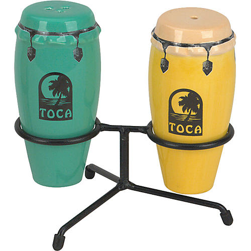 Toca Conga Salt and Pepper Shakers with Stand