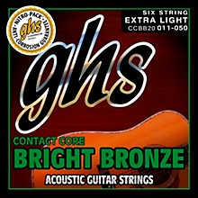 GHS Contact Core Bright Bronze Medium Acoustic Guitar Strings (11-50)