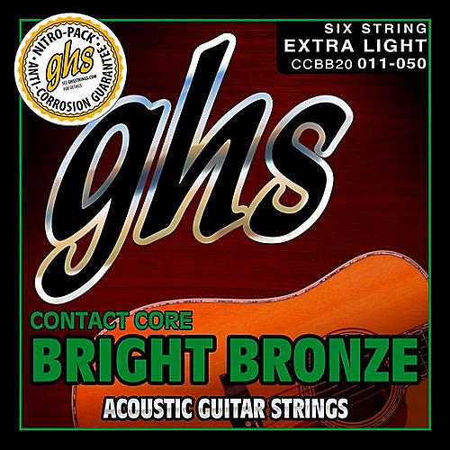 GHS Contact Core Bright Bronze Medium Acoustic Guitar Strings (11-50)-thumbnail