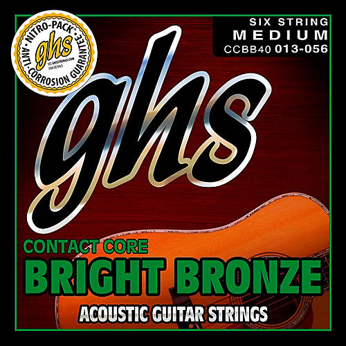 GHS Contact Core Bright Bronze Medium Acoustic Guitar Strings (13-56)-thumbnail