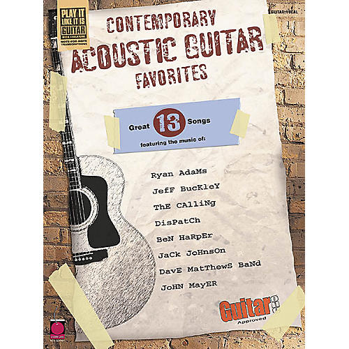 Cherry Lane Contemporary Acoustic Guitar Favorites Guitar Tab Songbook