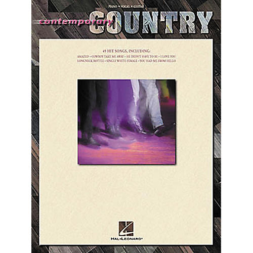 Hal Leonard Contemporary Country Piano, Vocal, Guitar Songbook
