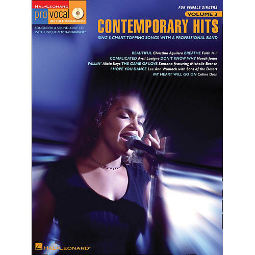 Hal Leonard Contemporary Hits - Pro Vocal Series for Female Singers Book/CD Volume 3-thumbnail