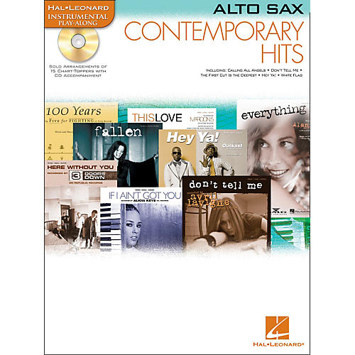 Hal Leonard Contemporary Hits for Alto Sax Book/CD Instrumental Play-Along
