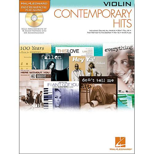 Hal Leonard Contemporary Hits for Violin Book/CD Instrumental Play-Along