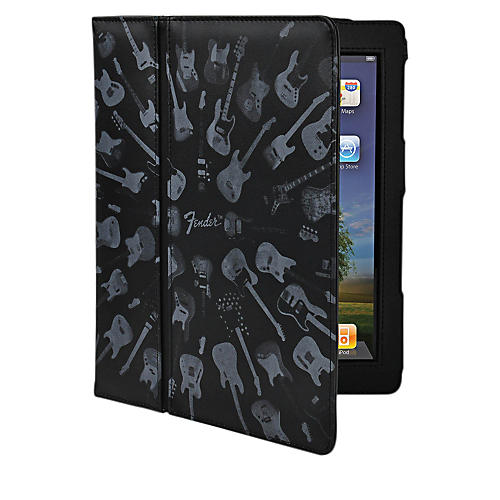 Hal Leonard Contour Design Fender iPad Black Guitar Army Folio Case-thumbnail