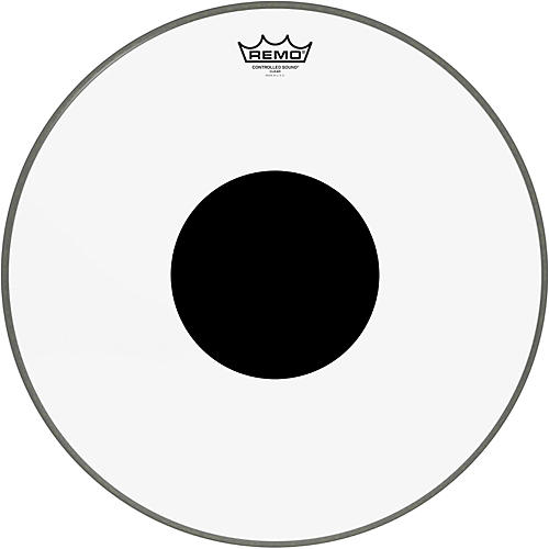 Remo Controlled Sound Clear with Black Dot Bass Drum  18 in.