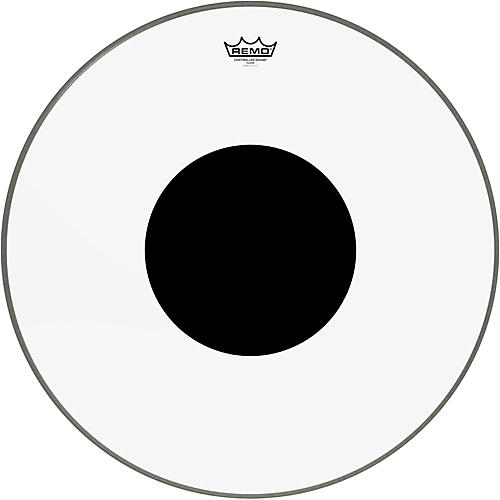 Remo Controlled Sound Clear with Black Dot Bass Drum-thumbnail