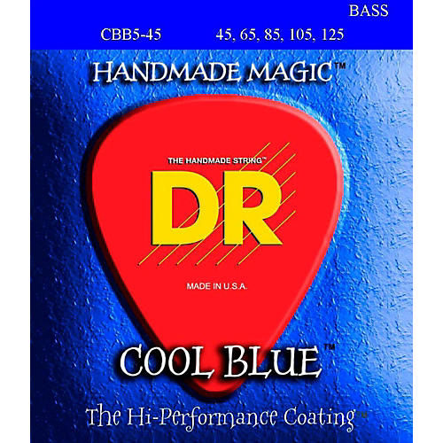 DR Strings Cool Blue Coated 5 STring Bass Medium (45-125)-thumbnail