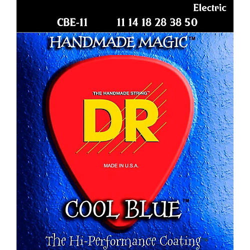 DR Strings Cool Blue Coated Electric Strings Extra Heavy (11-50)-thumbnail