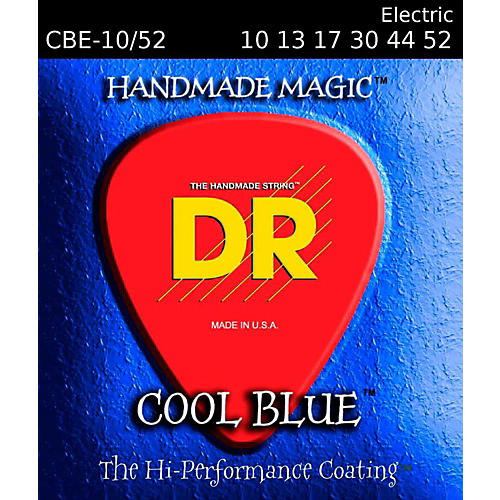 DR Strings Cool Blue Coated Electric Strings Medium (10-52)-thumbnail
