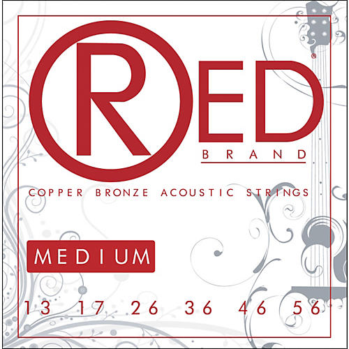 Red Strings Copper Bronze Acoustic Guitar Strings - Medium-thumbnail
