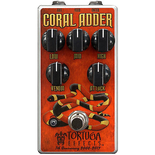Tortuga Coral Adder British-Stortion Guitar Distortion Effects Pedal-thumbnail
