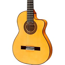 Cordoba 55FCE Thinbody Acoustic-Electric Nylon String Flamenco Guitar (3864 55FCE)