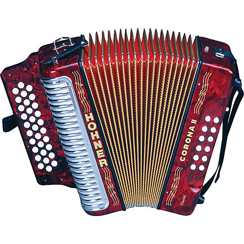 Hohner Corona II Classic ADG Accordion Pearl Red