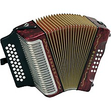 Hohner Corona III FBbEb Accordion Level 1 Pearl Red