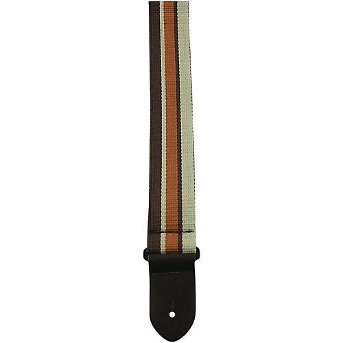 Perri's Cotton Brown Stripped Guitar Strap-thumbnail