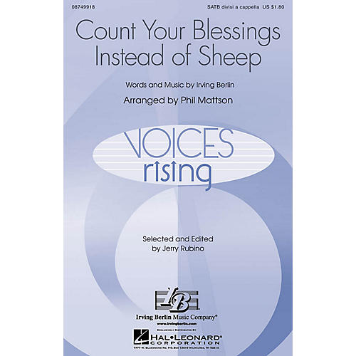 Hal Leonard Count Your Blessings Instead of Sheep SATB a cappella arranged by Phil Mattson