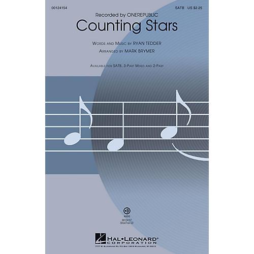 Hal Leonard Counting Stars SATB by OneRepublic arranged by Mark Brymer