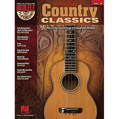 Hal Leonard Country Classics Ukulele Play-Along Volume 15 Book/CD-thumbnail