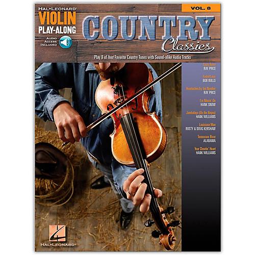 Hal Leonard Country Classics Violin Play-Along Volume 8 Book/CD