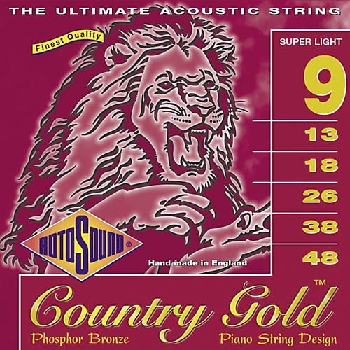 Rotosound Country Gold Super Light Phosphor Bronze Acoustic Guitar Strings