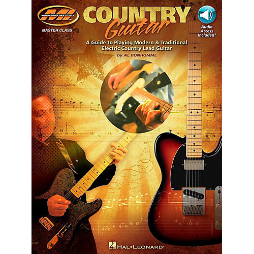 Hal Leonard Country Guitar - A Guide to Playing Modern & Traditional Electric Country Lead Guitar Book/Audio Online