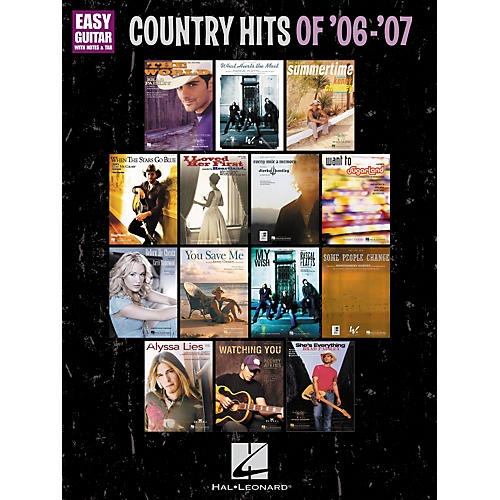 Hal Leonard Country Hits Of '06-'07: Easy Guitar With Notes and Tab Songbook-thumbnail