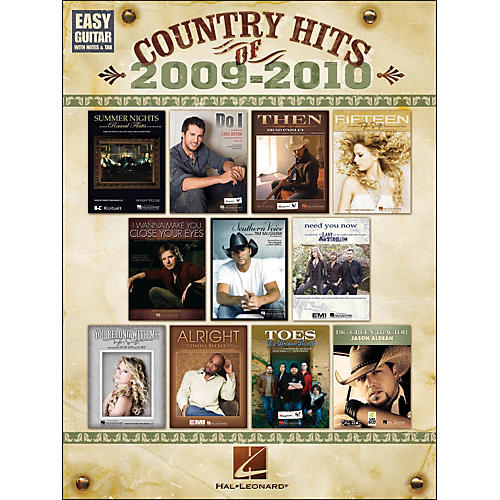 Hal Leonard Country Hits Of 2009 - 2010 Easy Guitar with Tab-thumbnail