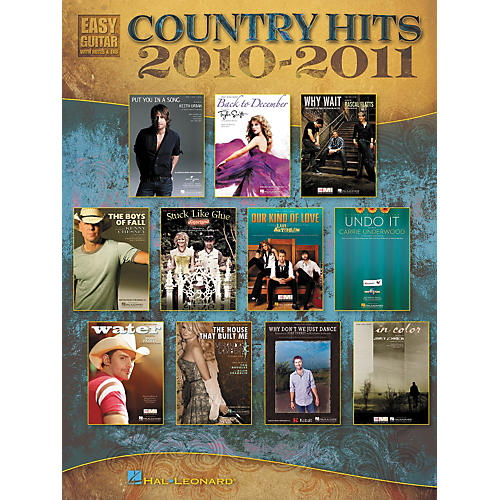 Hal Leonard Country Hits Of 2010-2011 - Easy Guitar With Tab