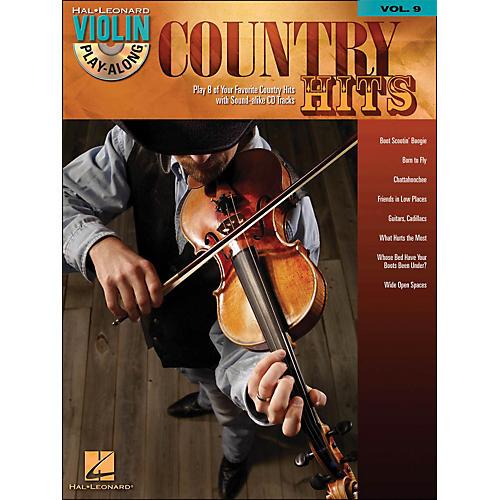 Hal Leonard Country Hits Violin Play-Along Volume 9 (Book/CD)-thumbnail