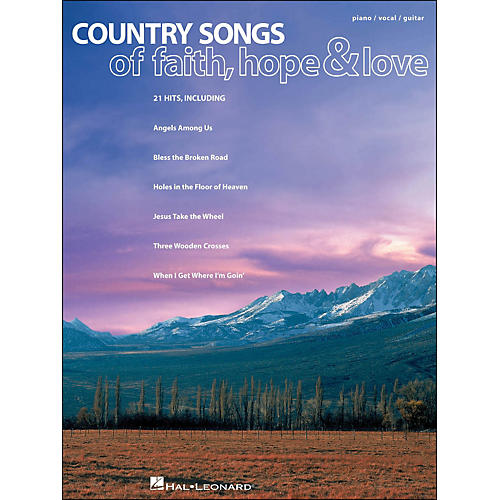 Hal Leonard Country Songs Of Faith, Hope & Love arranged for piano, vocal, and guitar (P/V/G)-thumbnail
