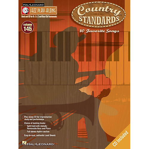 Hal Leonard Country Standards - Jazz Play-Along Volume 145 Book/CD-thumbnail