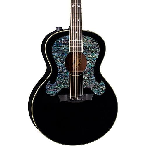 Dean Craig Wayne Boyd Solid Top Gloss Black Acoustic-Electric Guitar-thumbnail