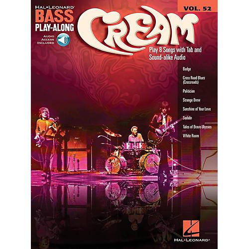 Hal Leonard Cream - Bass Play-Along Volume 52 (Book/Audio Online)
