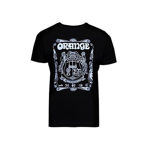 Orange Amplifiers Crest T-Shirt Black Large